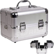 Casemetic/Sunrise 2-Tier Makeup Train Case - Silver