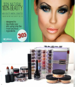 MicaBeauty Cosmetics Professional Artist Mineral Makeup Dark Skin Set Purple Case + Aviva Snow Man Nail Kit