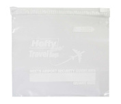 Hefty One Zip Travel Bags Quart Size