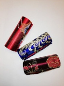 Lipstick Case 3pcs Set Satin Silky Fabric Lipstick Case w/Mirror.Assorted Gorgeous Design ,8.9cm L x 3.2cm W Super Value,Good for Birthday Gifts--Random Assorted Variety Colours-2012 New Pattern,High Quality , .  d !