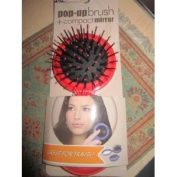 London Bath & Beauty Pop-up Hairbrush with Mirror Great for Travel