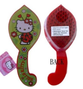 "Sanrio ""Hello Kitty"" Red Hairbrush With Curved Handle Ladybug"