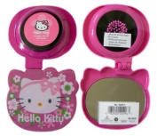 Sanrio Pop-up Travel Hairbrush - Spring Blooms Hello Kitty Folding Hair Brush and Compact Mirror