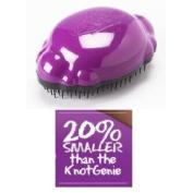 "Knot Genie ""Teeny Genie"" Kid-sized Hair Detangling Brush-purple"