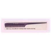 Cleopatra 21.6cm Extra Fine Tooth Rattail Comb #441 * Plum