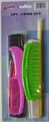 6 Piece Hair Comb Set LOT of 3 SKU