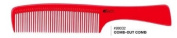 iTech Small Comb-Out Ceramic Carbon Comb Static- + A-Viva Magic 4 Sided Nail Buffer