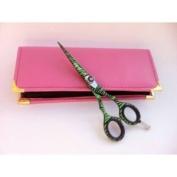 professional hair scissors hair cut Scissors 55 Green scissor shear
