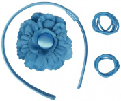 Gimme Clips Head Band & Flower Hair Clip Darling, Turquoise