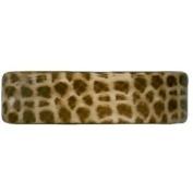Karina - French Couture Giraffe Print Curved Barrette #K9308X1