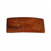 Hawaiian Koa Wood Small Rectangle Hair Clip Barrette From Hawaii