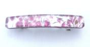 Light Purple Silver Venetian Murano Glass Hair Barrette