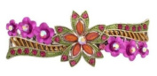 Doubl French Barrette w. Crystals