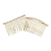 DCNL Gold And Pearl Side Combs