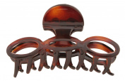 Caravan Oval Open Links Hair Claw in Tortoise Shell Colour