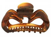 Caravan Patent Hairclaw with open Sides Showing Your Hair in Tortoise Shell Colour