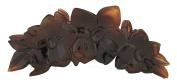 Caravan X Lg Rose Bush Design Hair Claw Tortoise Shell Colour of Celluloid Acetate