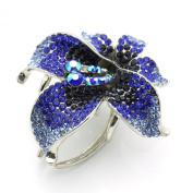 DoubleAccent Hair Jewellery Crystal Luxury Flower Hair Jaw Blue Colour