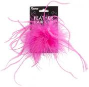Ostrich Feather Hair Clip, 1/Pkg