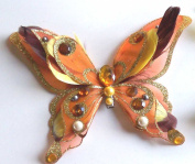 Gloden 3D Jewelled Butterfly Clip