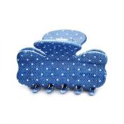 [Aznavour] Lovely & Cute Denim Mini Ribbon Claw Hair Pin / White #CLdmp467.