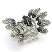 DoubleAccent Hair Jewellery Crystal Butterfly Hair Jaws Black Colour