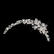 Rosaria Side Accented Crystal & Rhinestone Wedding Bridal Tiara Hair Clip