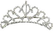 Crystal Bridal Bridesmaid Prom Tiara Hair Comb Rhinestone Wedding T10009