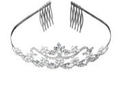 Flower Pearl Bridal Wedding Tiara Crystals Rhinestones Crown Prom Party T0082