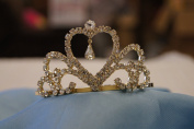 (SMALL)Elegant Bridal Wedding Tiara Crown with Crystal Party Accessories DH3522