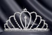 Crystal Rhinestone Bridal Wedding Tiara 6cm Crystal/Silver, TIA-1010