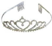 Heart Bridal Wedding Tiara Crystals Rhinestones Crown Promo Party T10029