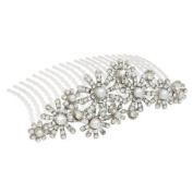 Bridal Wedding Jewellery Crystal Rhinestone Elegant MidSize Floral Hair Tiara Comb