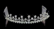 Silver with Crystal Crown Tiara for Wedding, Prom, Pageant, Quinceañera or Other Special Events