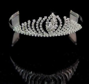 Contessa Crystal Tiara for Wedding, Prom, Pageant, Quinceañera or Other Special Events.