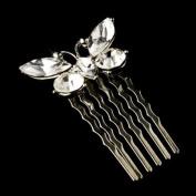 Jolanda Fabulous Rhinestone Butterfly Wedding Bridal Comb