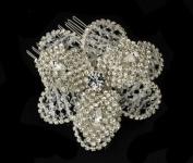 Nicola. Crystal Rhinestone Flower Bridal Wedding Bridal Hair Comb