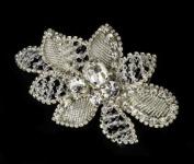 Noelia. Crystal Rhinestone Flower Bridal Wedding Bridal Hair Comb Clip