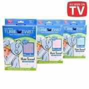 Turbie Twist Microfiber Super Absorbent Hair Towel, 1 ea