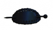 Oval Hair Pin with Edge Weaving - Dark Navy Blue