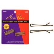 HAIR WARE Rubberized Mini Bobby Pins Blonde (Model