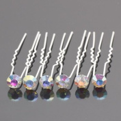Crystal AB (Pack Of 6) Rhinestones Hair Pins