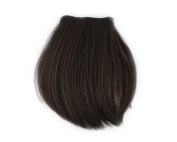 Fashion 1 pcs Cute Clip On Clip In Front Bangs Wig Front Hair Bangs Fringe Hair Extension Dark Brown B