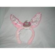 Pink Bunny Ears Costume Accessory Headband ~ Fabric Inside Ears Varies