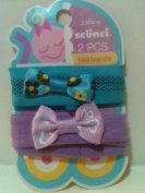 Scunci 2pc. Headbands For Small Children Turquoise and Purple
