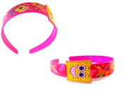 Nickelodeon Spongebob Pink HairBand - Spongebob Pink Flexible Headband - Spongbob Hair Accessories