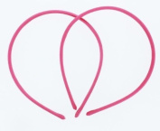 7mm Satin Covered Plastic Headband in Hot Pink - 12 Pieces