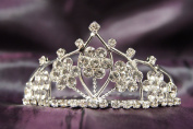 Beautiful Bridal Wedding Flower Tiara Crown with Crystal Party Accessories DH15764