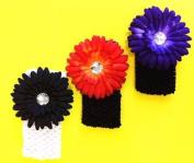 Crotchet Stretch Headband with Flower Clip