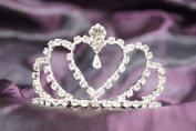 New Beautiful Bridal Wedding Tiara Crown in With Leaf Crystal Heart DH15754